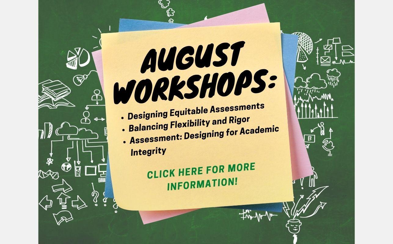 August 2021 Workshops
