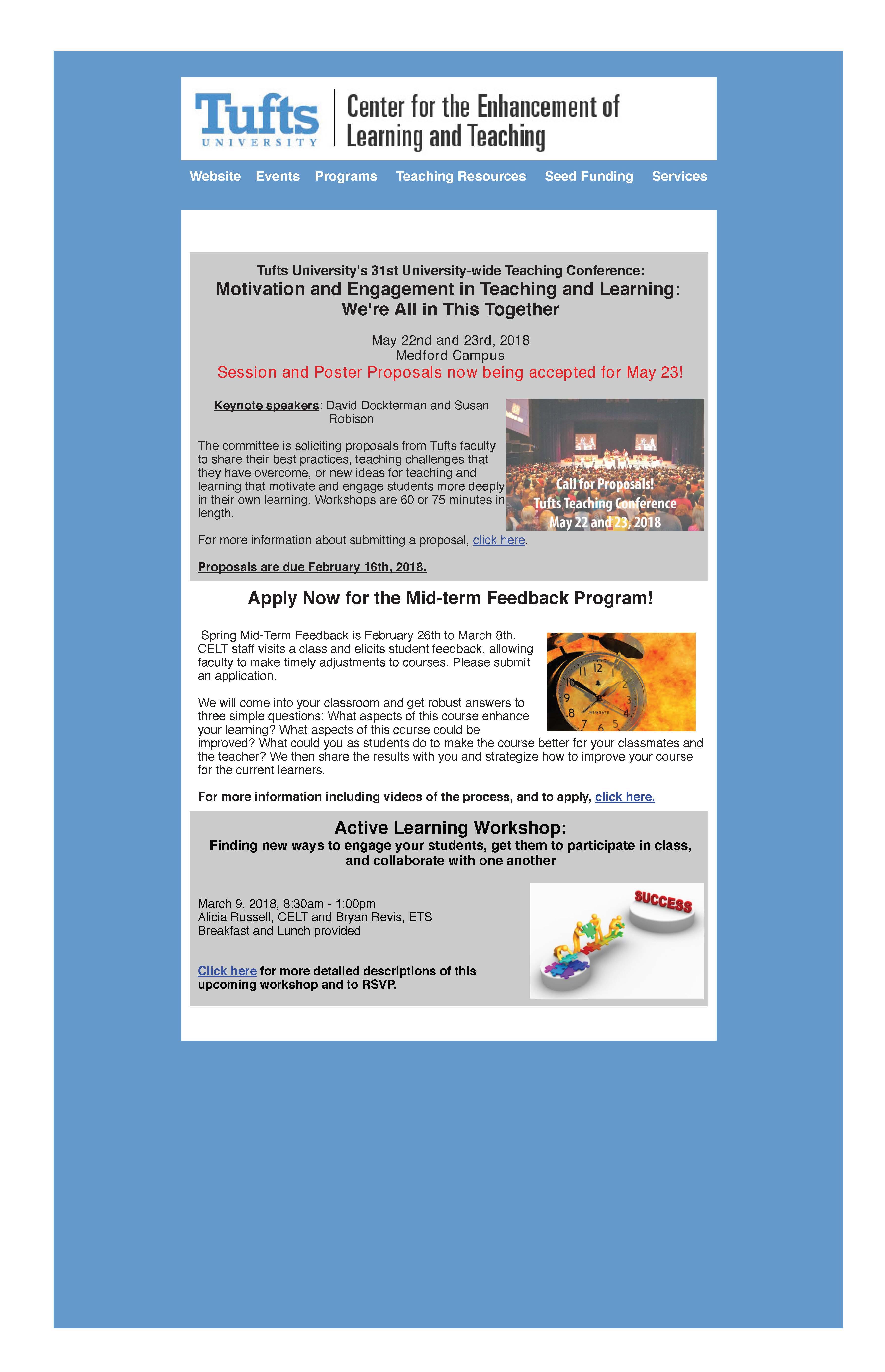 CELT Spring Newsletter