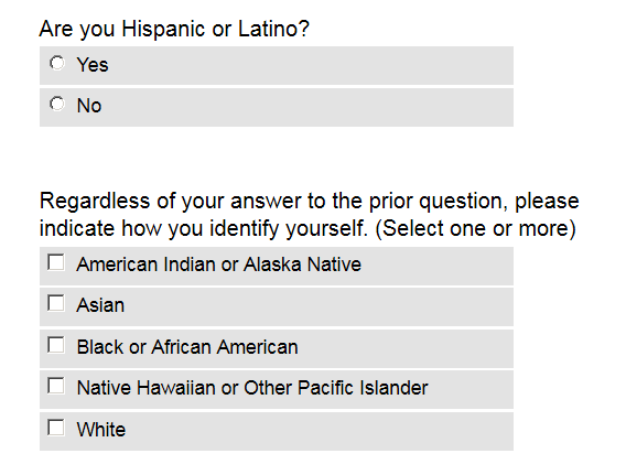 Common App Demographic Question