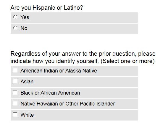 Common App Demographic Question