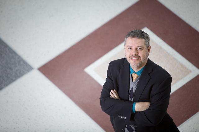 Mark Brimhall-Vargas, at UMD, Jan. 26, 2015. (Toby Jorrin/For Tufts)
