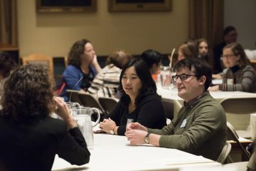 09/24/2018 - Medford/Somerville, Mass. - The first of a series of Tufts Table events, this one hosted by the Bridging Differences Initiative, took place on September 24, 2018. (Alonso Nichols/Tufts University)