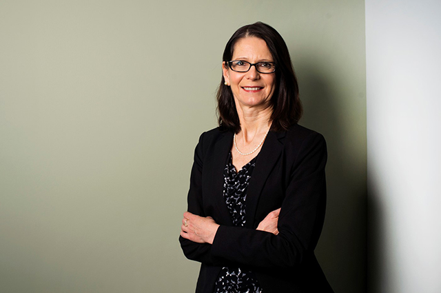 Headshot of Nadine Aubry, the new provost of Tufts.