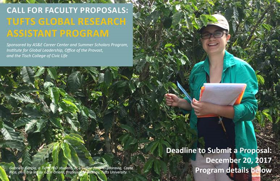 Call for Faculty Proposals: Tufts Global Research Assistant Program