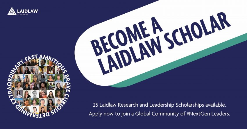 Become a Laidlaw Scholar