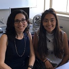Laidlaw Scholar Isabelle Spaulding and her faculty mentor, Lisa Shin, pose for a photo.