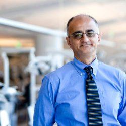 Dr. Nadeem Karimbux, new dean of TUSDM, poses for a photo.