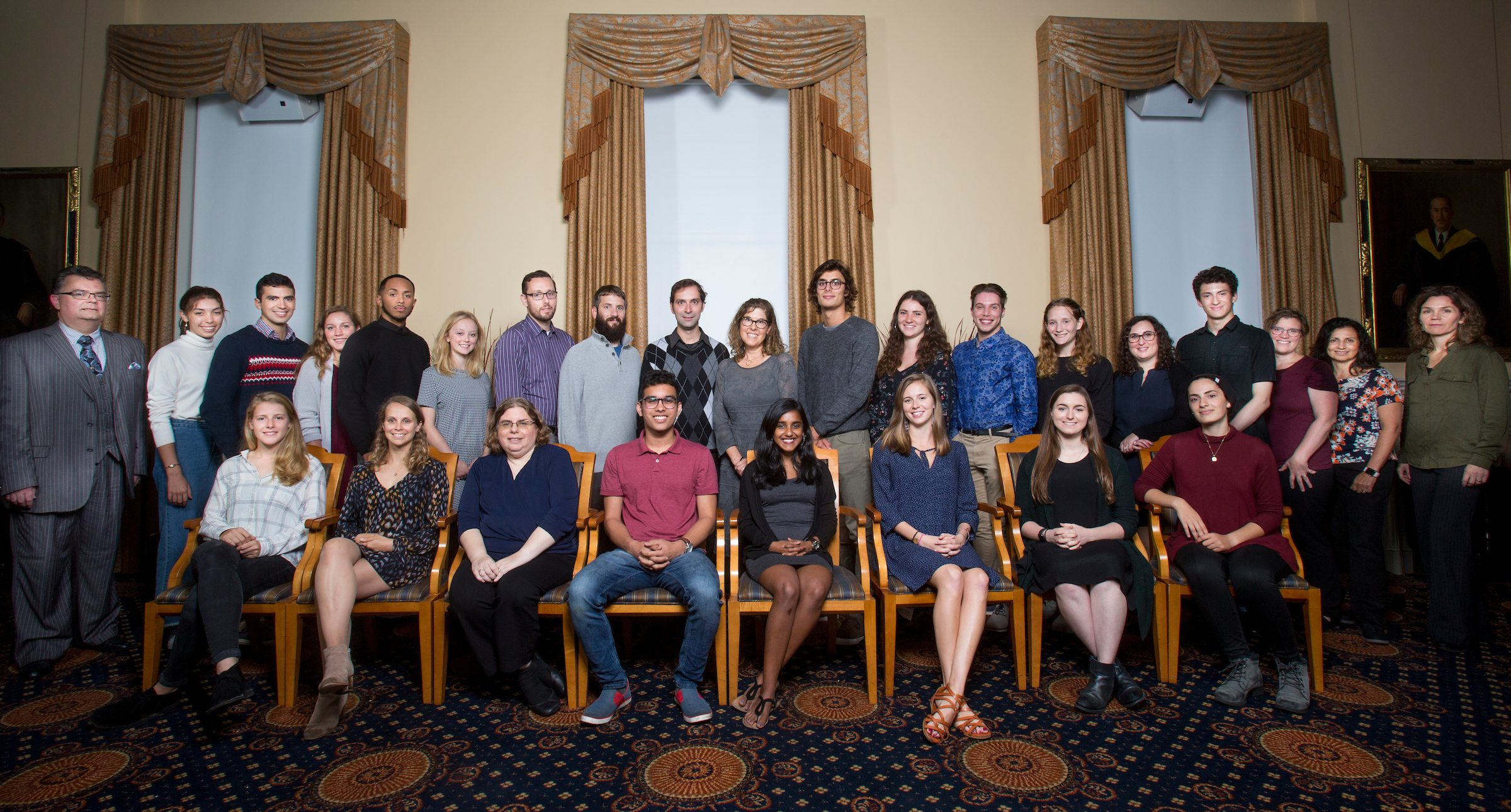 Laidlaw scholars and mentors pose for portraits